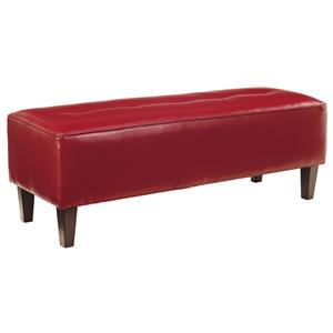 Rectangular Oversized Accent Ottoman with Tufted Top