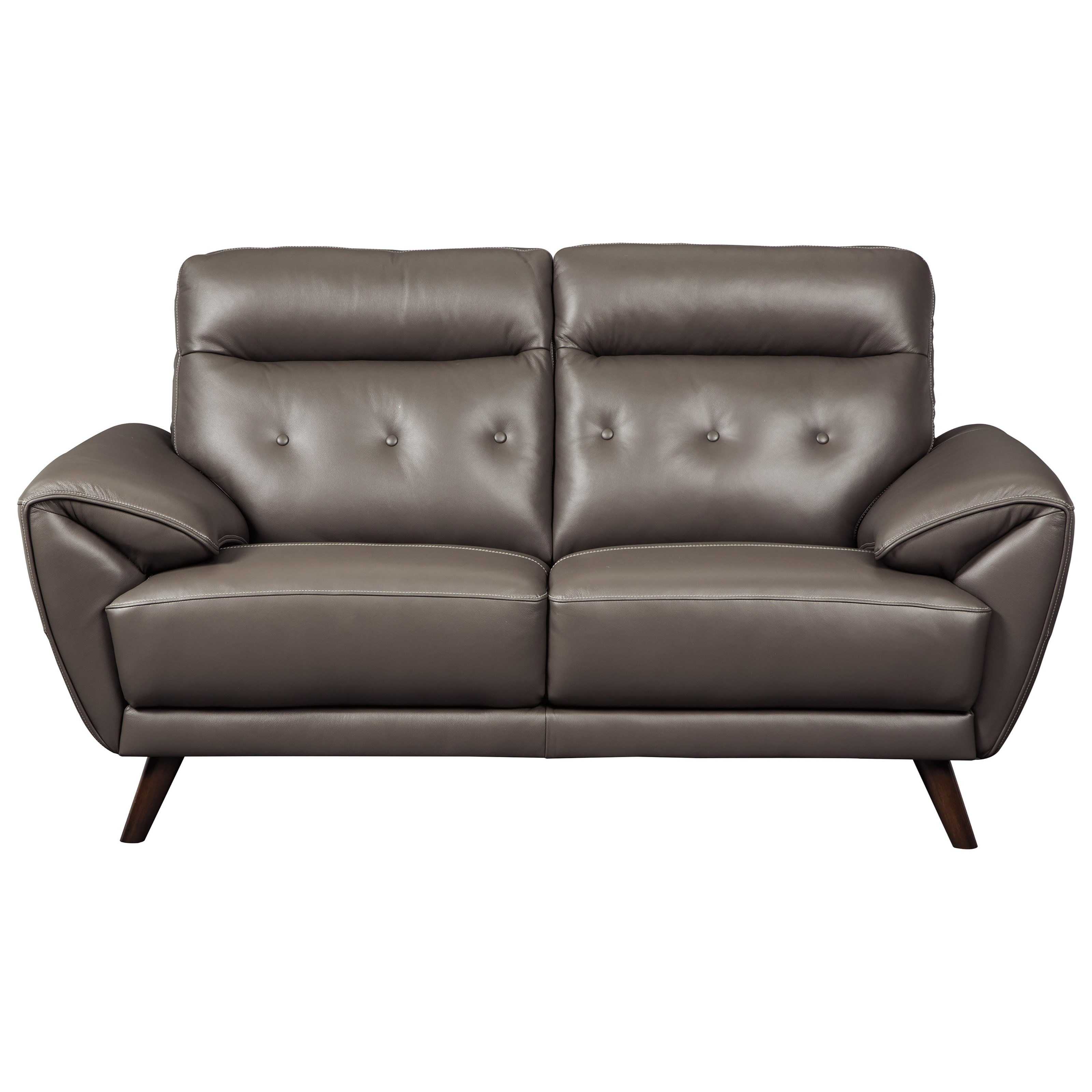 Swell Contemporary Leather Match Loveseat With Tufted Back By Andrewgaddart Wooden Chair Designs For Living Room Andrewgaddartcom