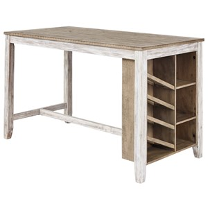 Rectangular Counter Table w/ Storage