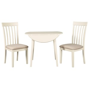 3-Piece Kitchen Table Set with Drop Leaves