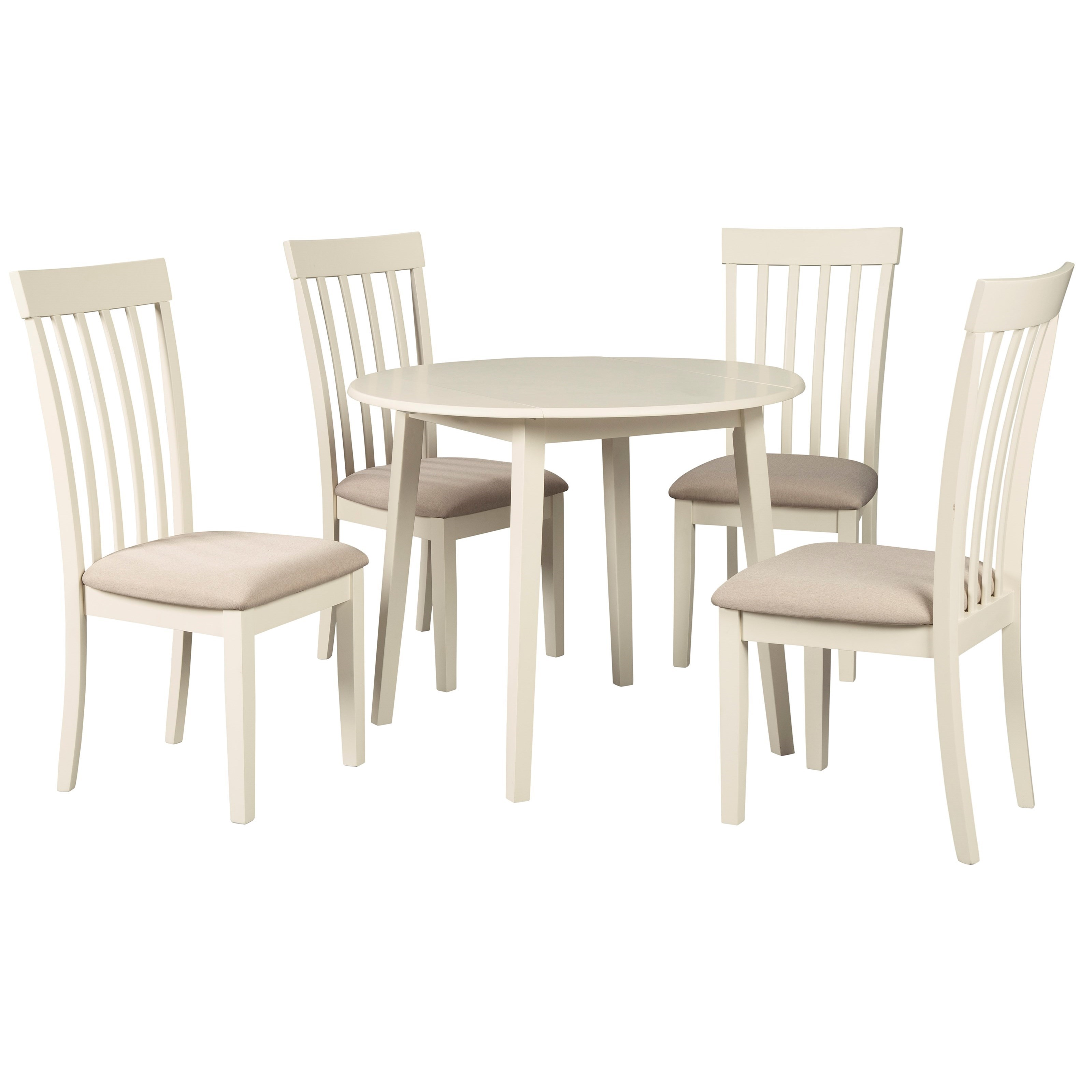 Causal 5-Piece Kitchen Table Set With Drop Leaves By