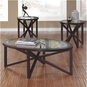 Signature Design by Ashley Sleffine Occasional Table Set