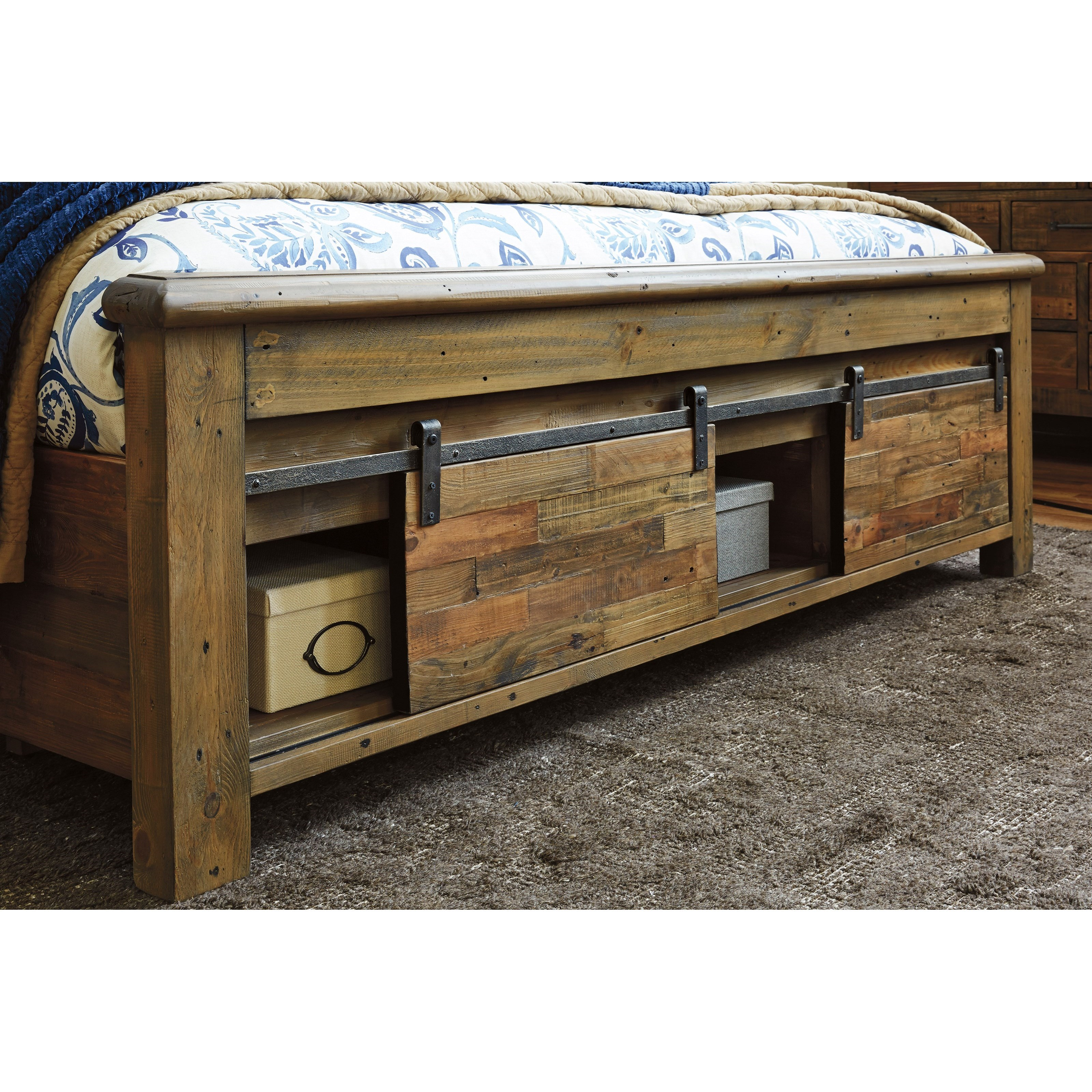 King Panel Storage Bed With Barn Doors By Signature Design By Ashley