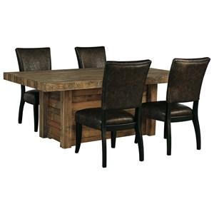 5-Piece Rectangular Dining Room Table Set