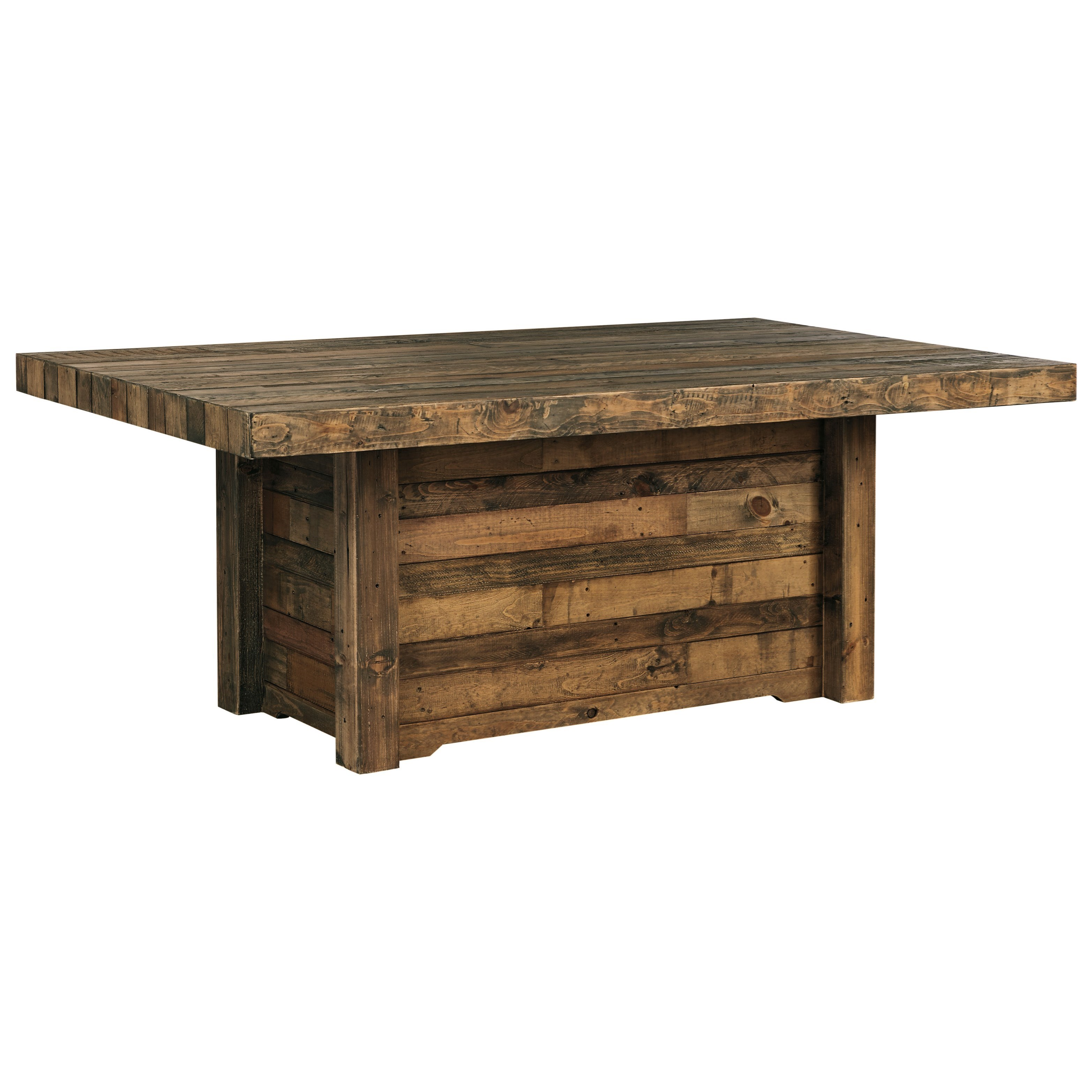 Solid Wood Dining Room Furniture: Solid Wood Reclaimed Pine Rectangular Dining Room Table By
