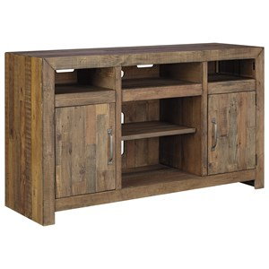 Reclaimed Pine Solid Wood Large TV Stand