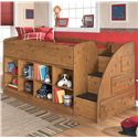 Signature Design by Ashley Stages Twin Loft Bed with Bookcase Storage - Item Number: B233-68T+2x17+13R