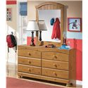Signature Design by Ashley Stages Dresser Mirror - Shown with Dresser