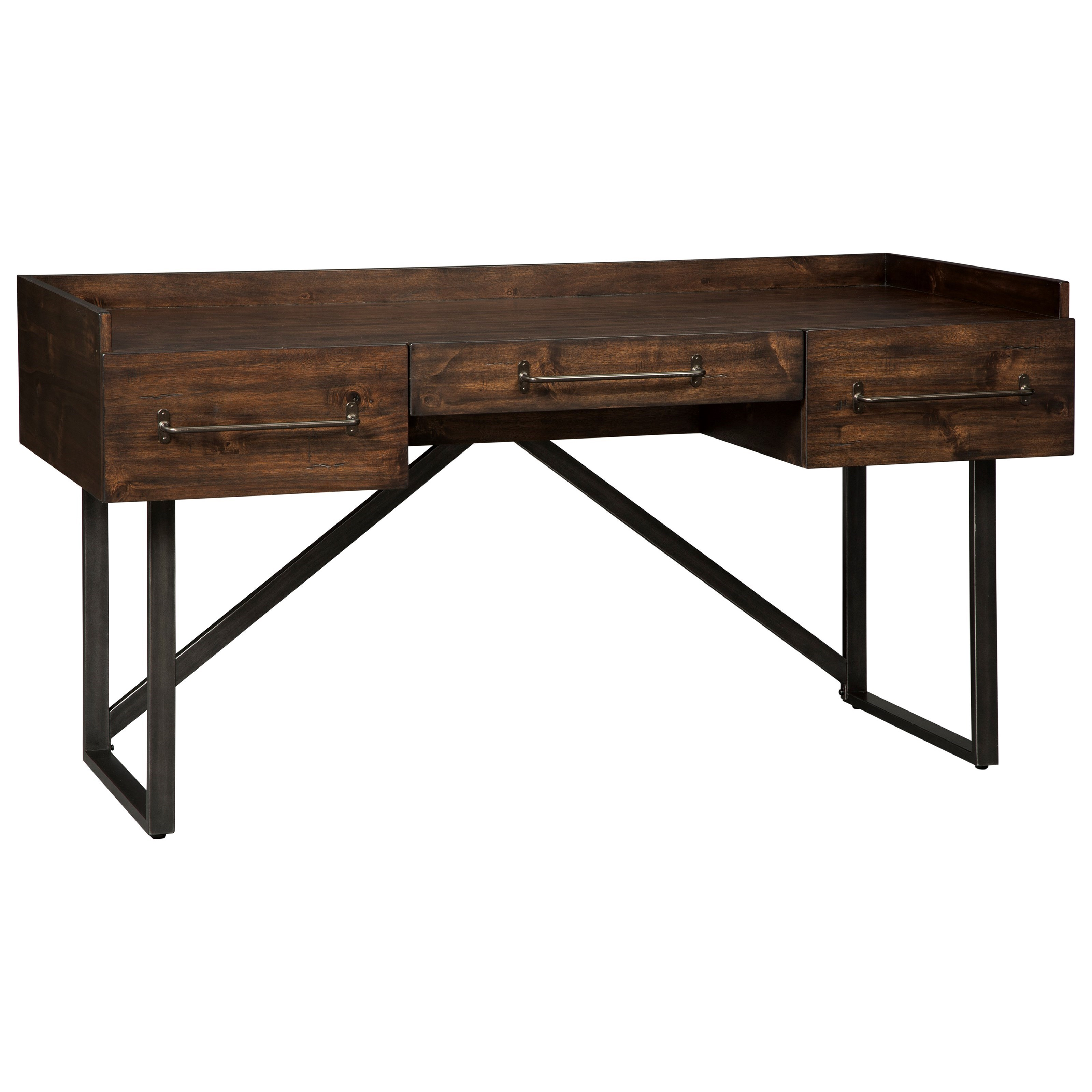 rustic home office desk. modern rusticindustrial home office desk with steel base rustic h