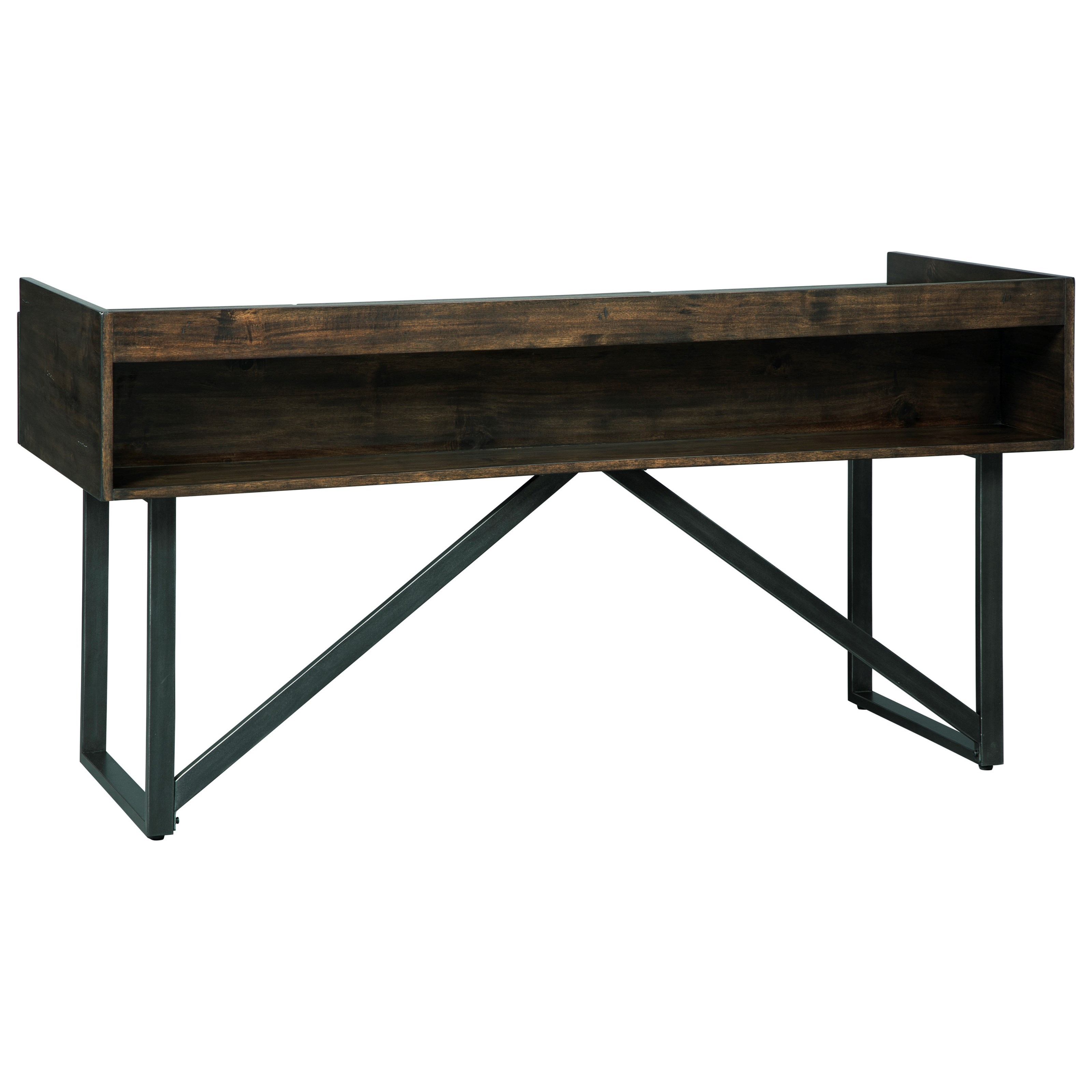 Modern Rustic/Industrial Home Office Desk with Steel Base by ...