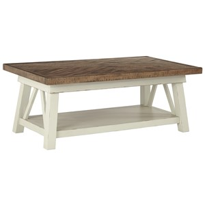 Two-Tone Rectangular Cocktail Table