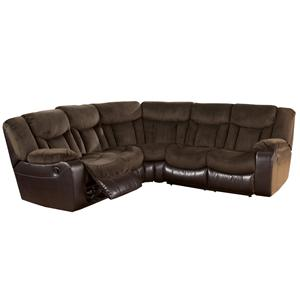 Signature Design by Ashley Tafton - Java Double Reclining Two Loveseat Sectional