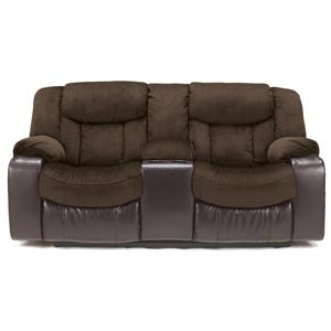 Signature Design by Ashley Tafton - Java Double Reclining Loveseat with Console