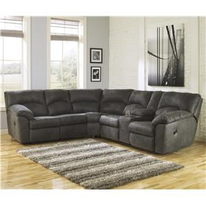 2-Piece Reclining Corner Sectional with Center Console