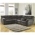 2-Piece Reclining Corner Sectional with Cent