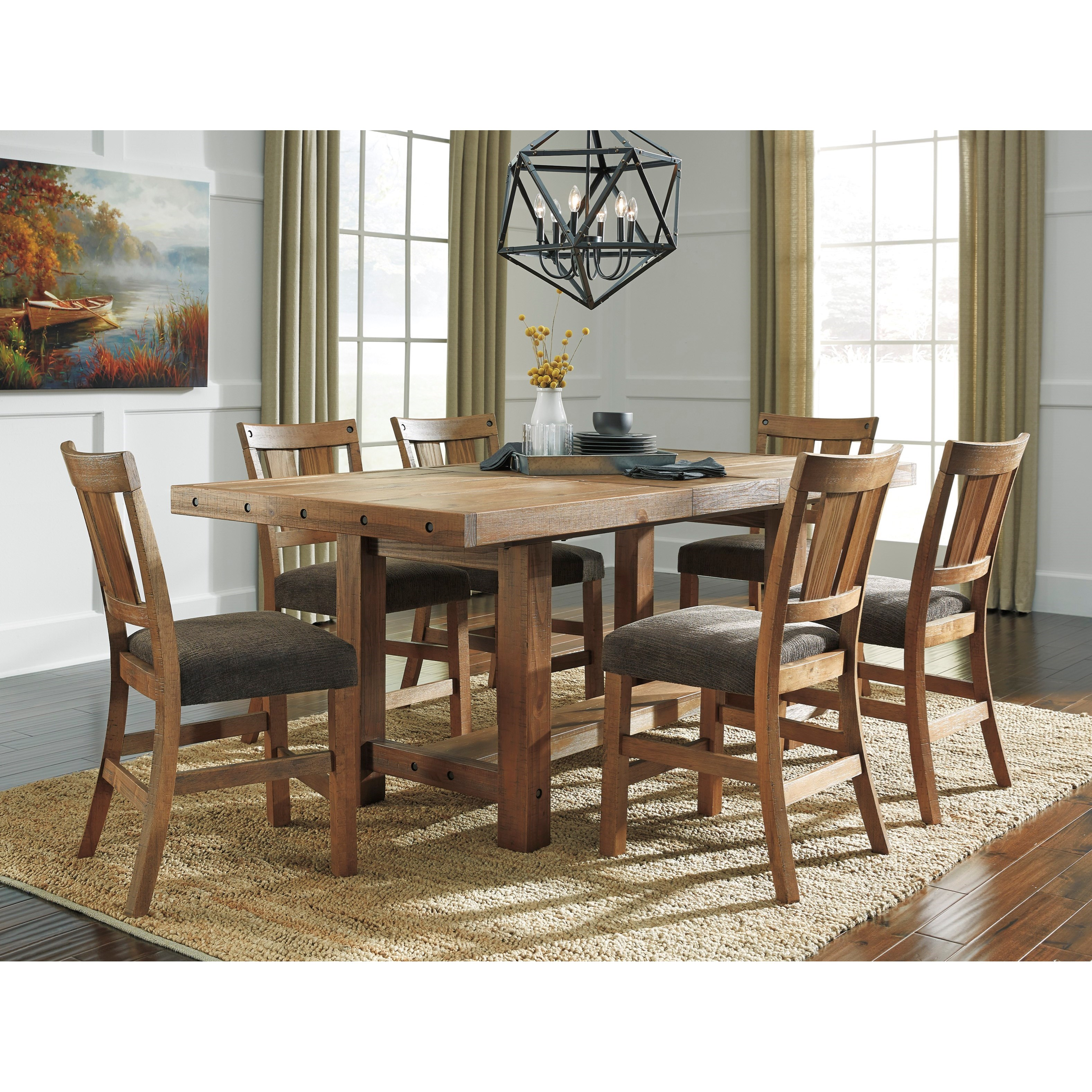 7 Piece Counter Extension Table Set