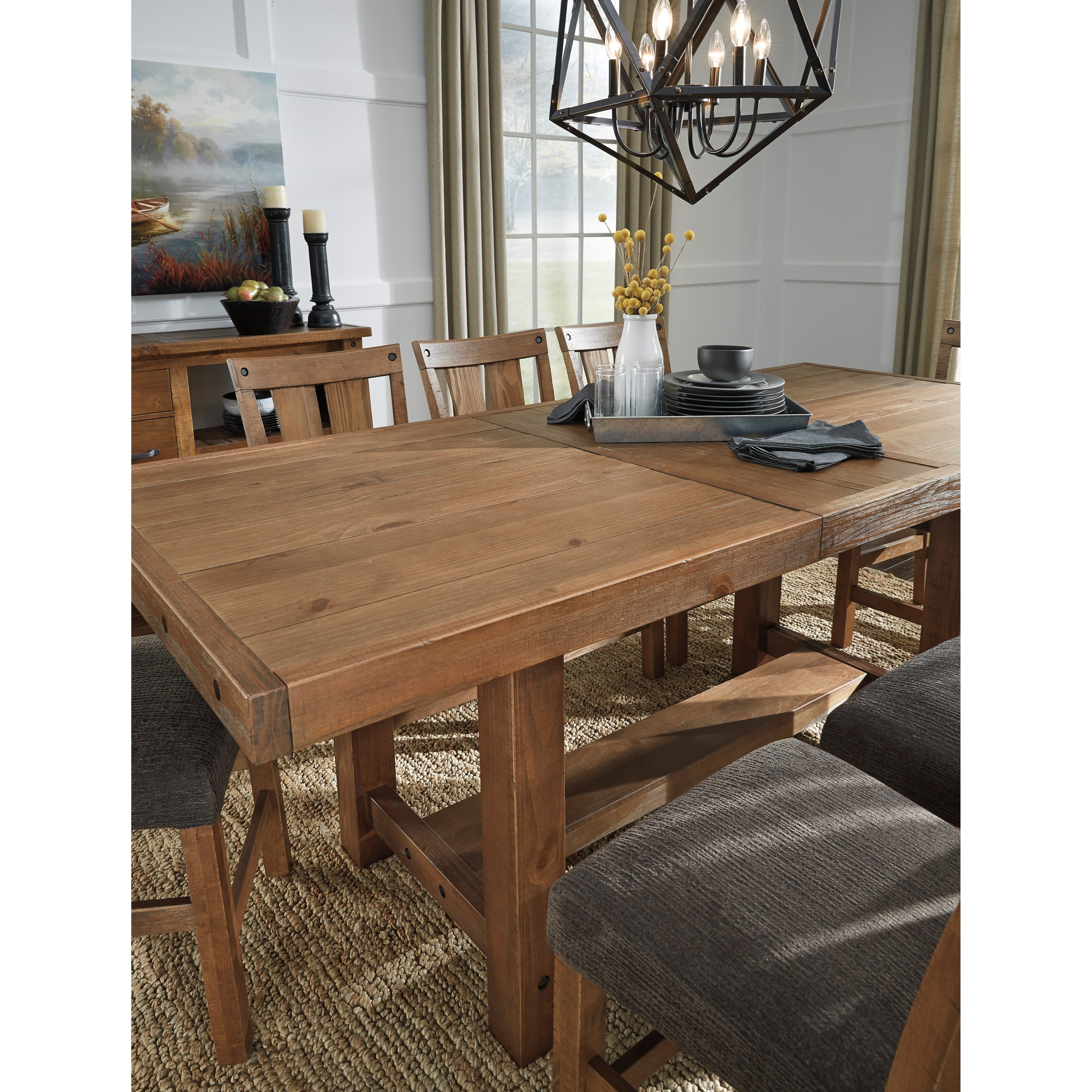 7 piece counter extension table set by signature design by ashley