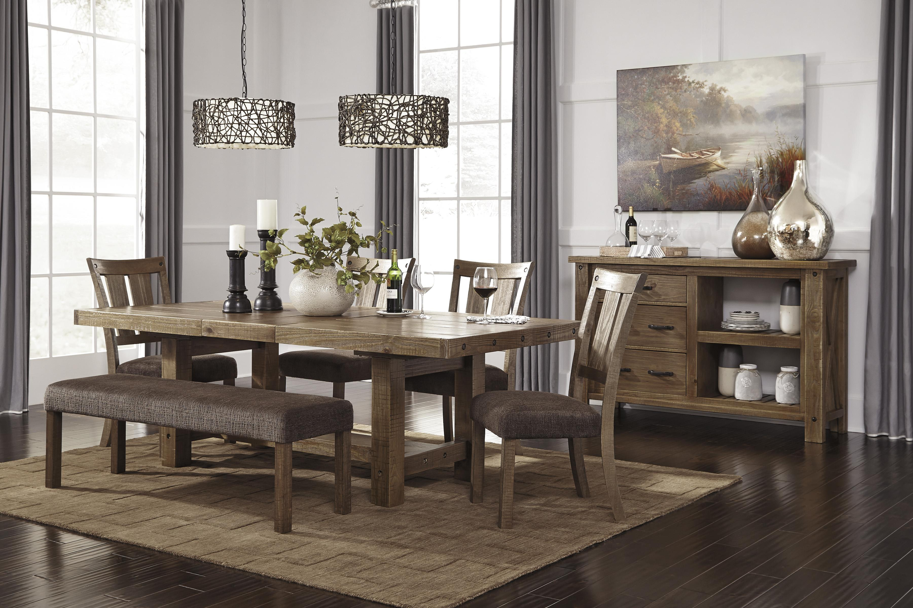 rectangle dining room table with leafsignature design