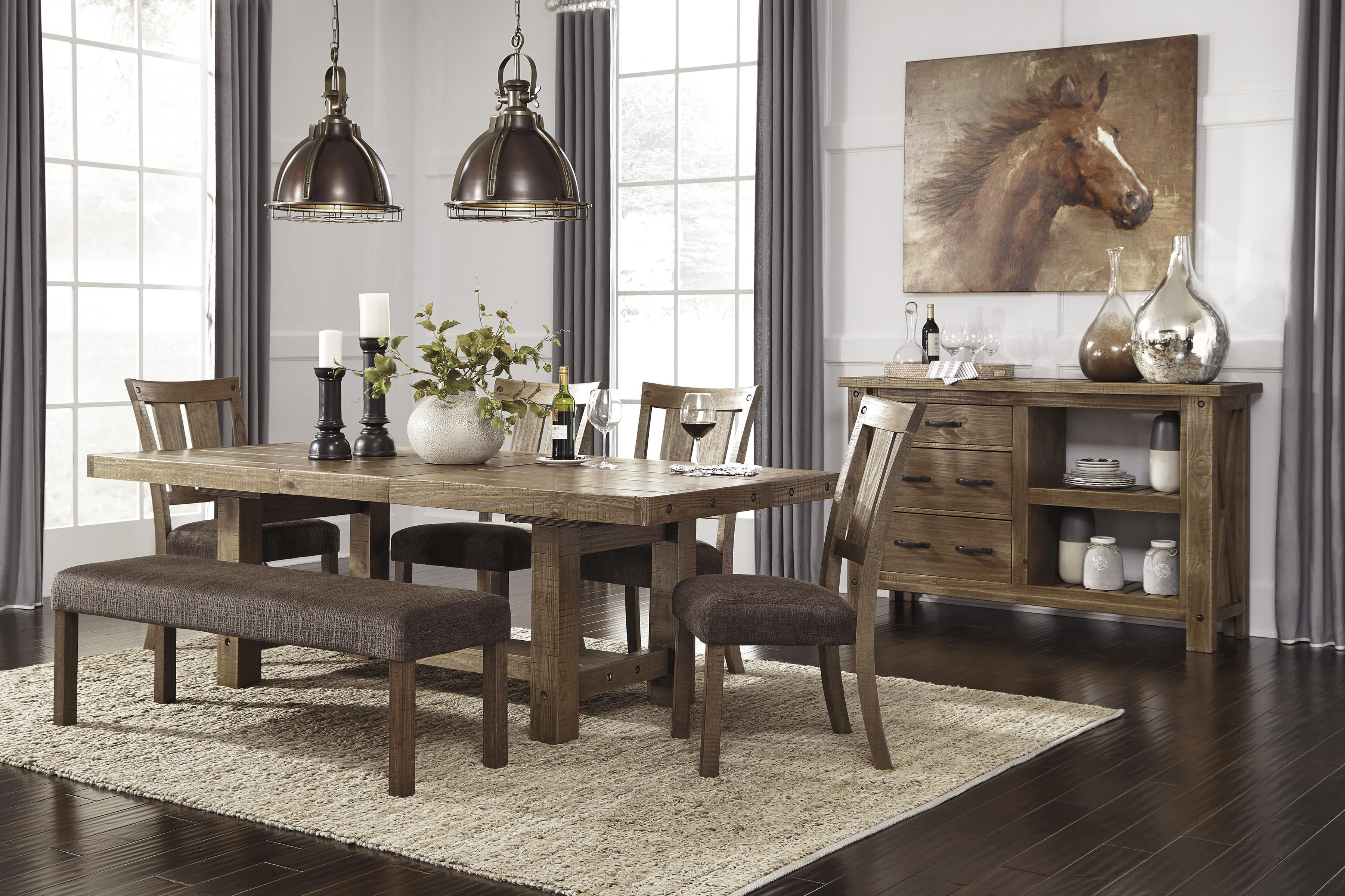 Rectangle Dining Room Table with Leaf by Signature Design by ...