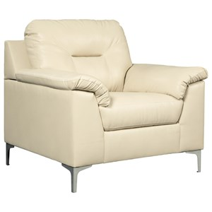 Contemporary Chair with Pillow Arms