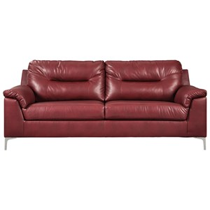 Contemporary Sofa with Pillow Arms