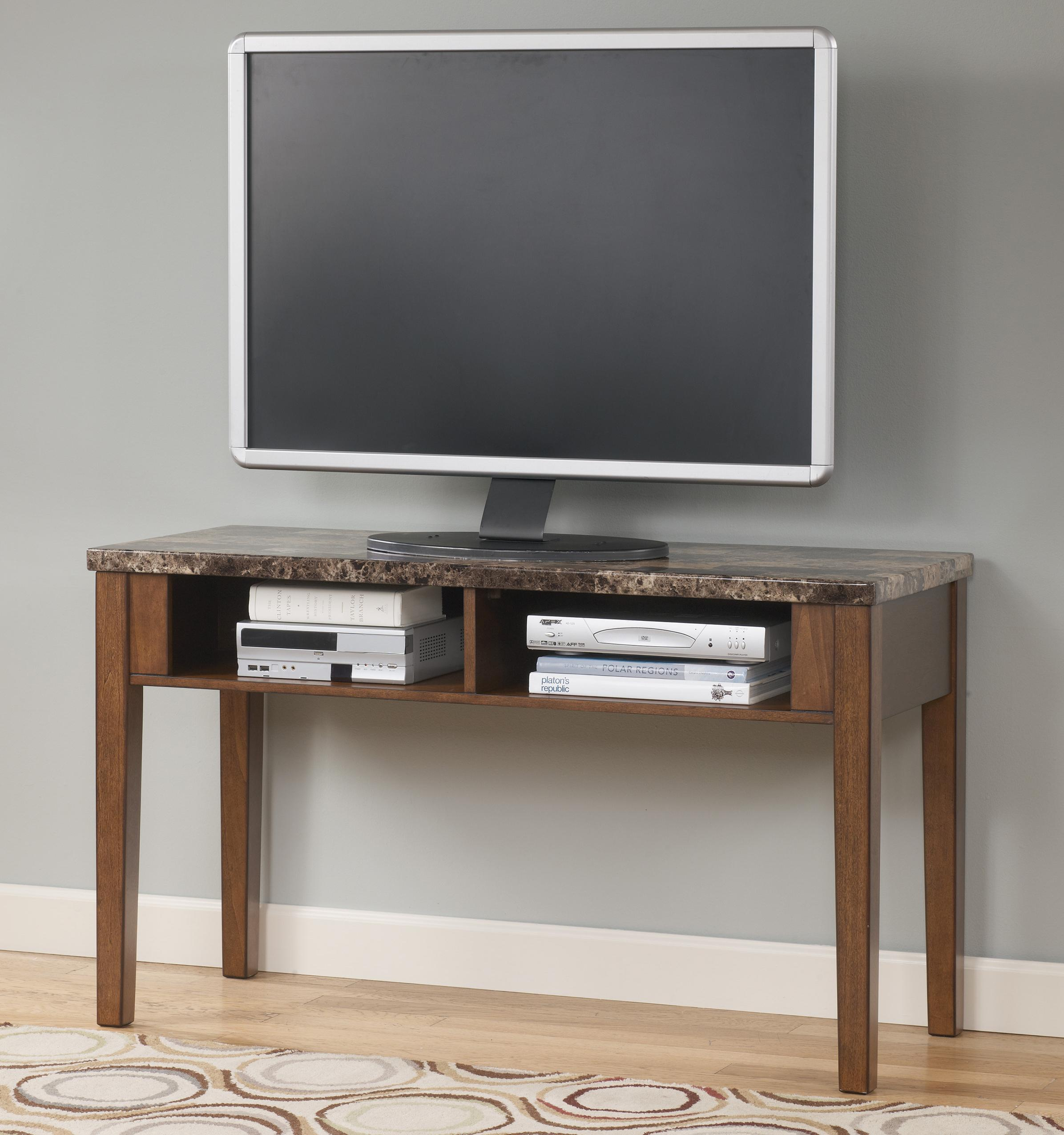 Sofa Table TV Console With Faux Marble Top