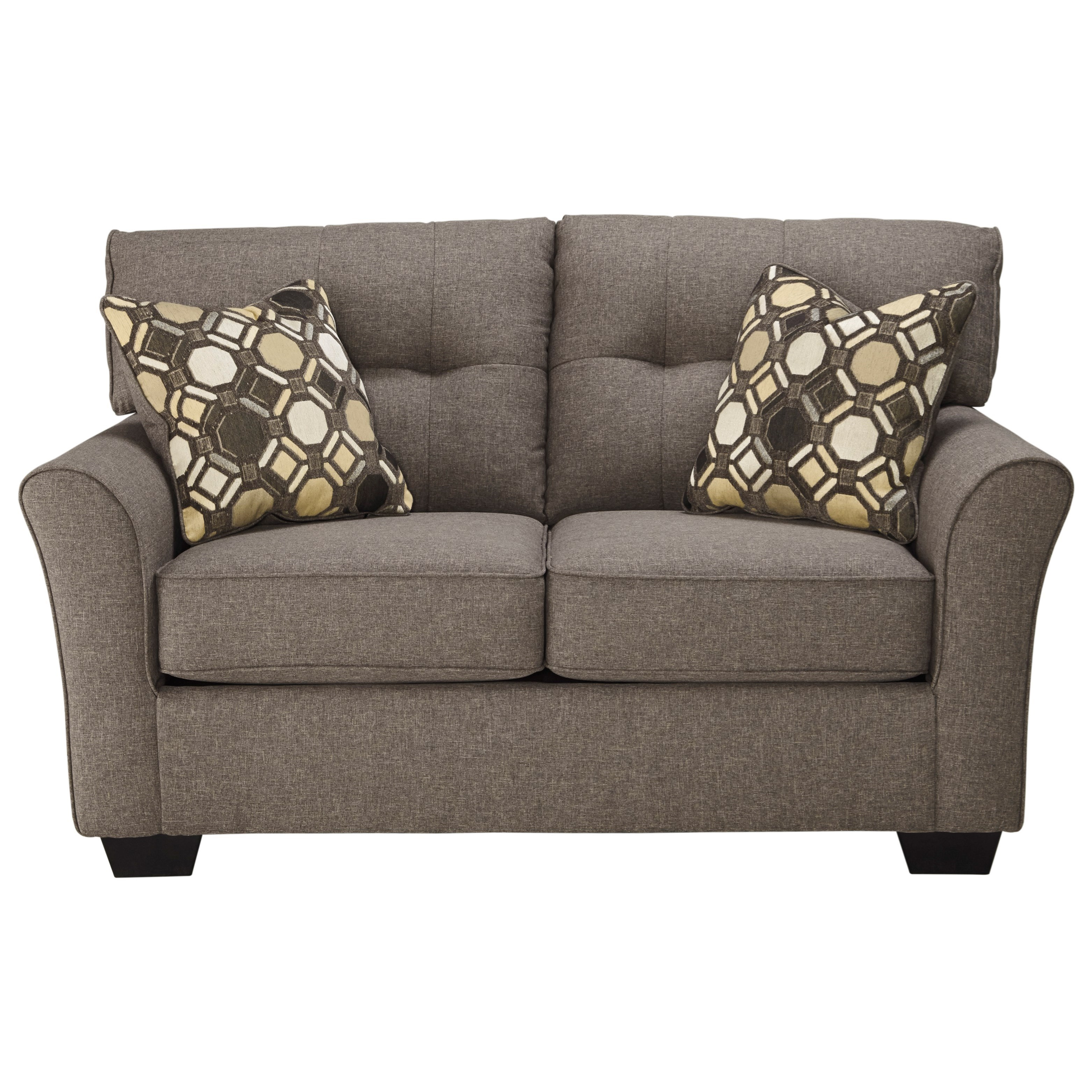 Contemporary Loveseat with Tufted Back