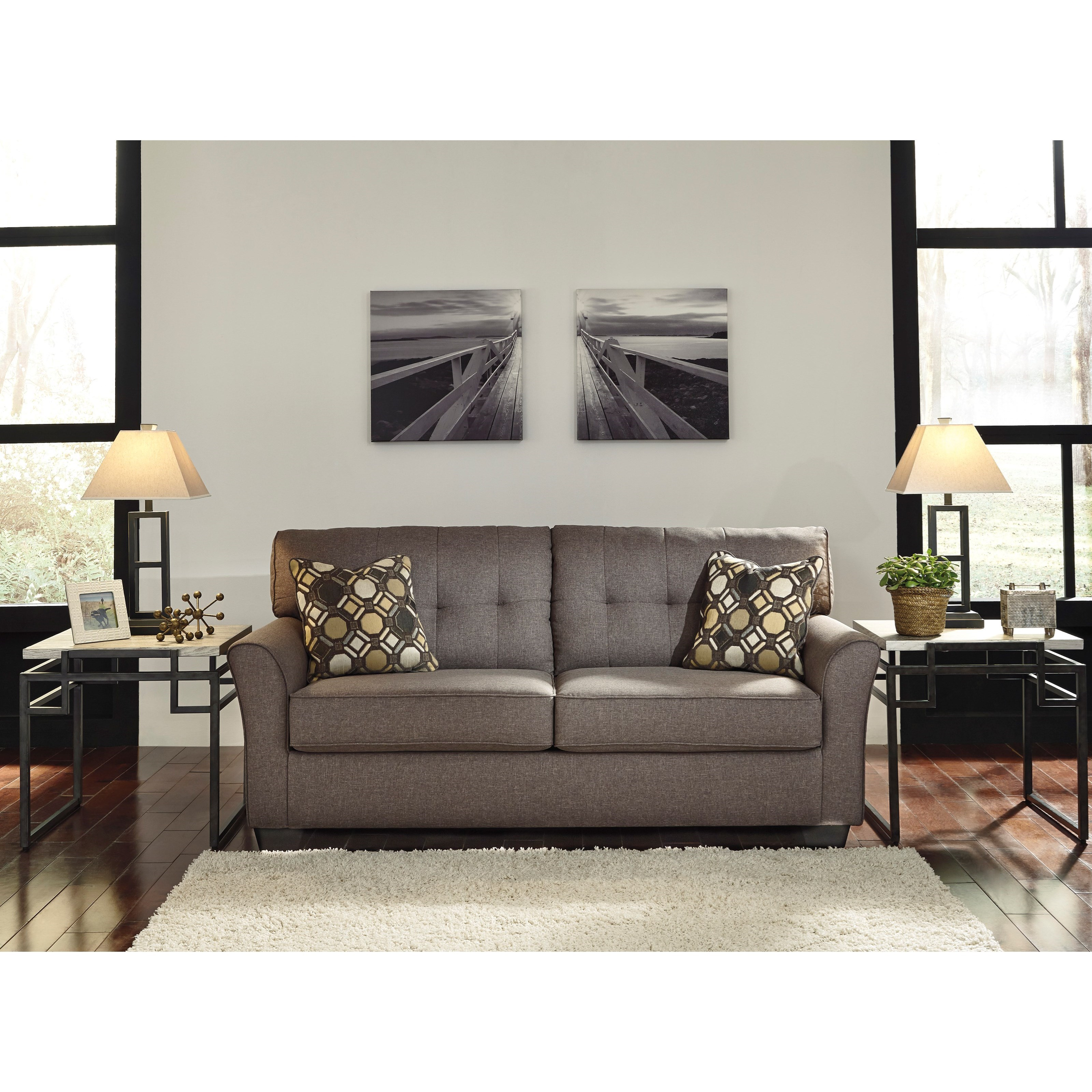 Ashley Design: Contemporary Full Sofa Sleeper By Signature Design By