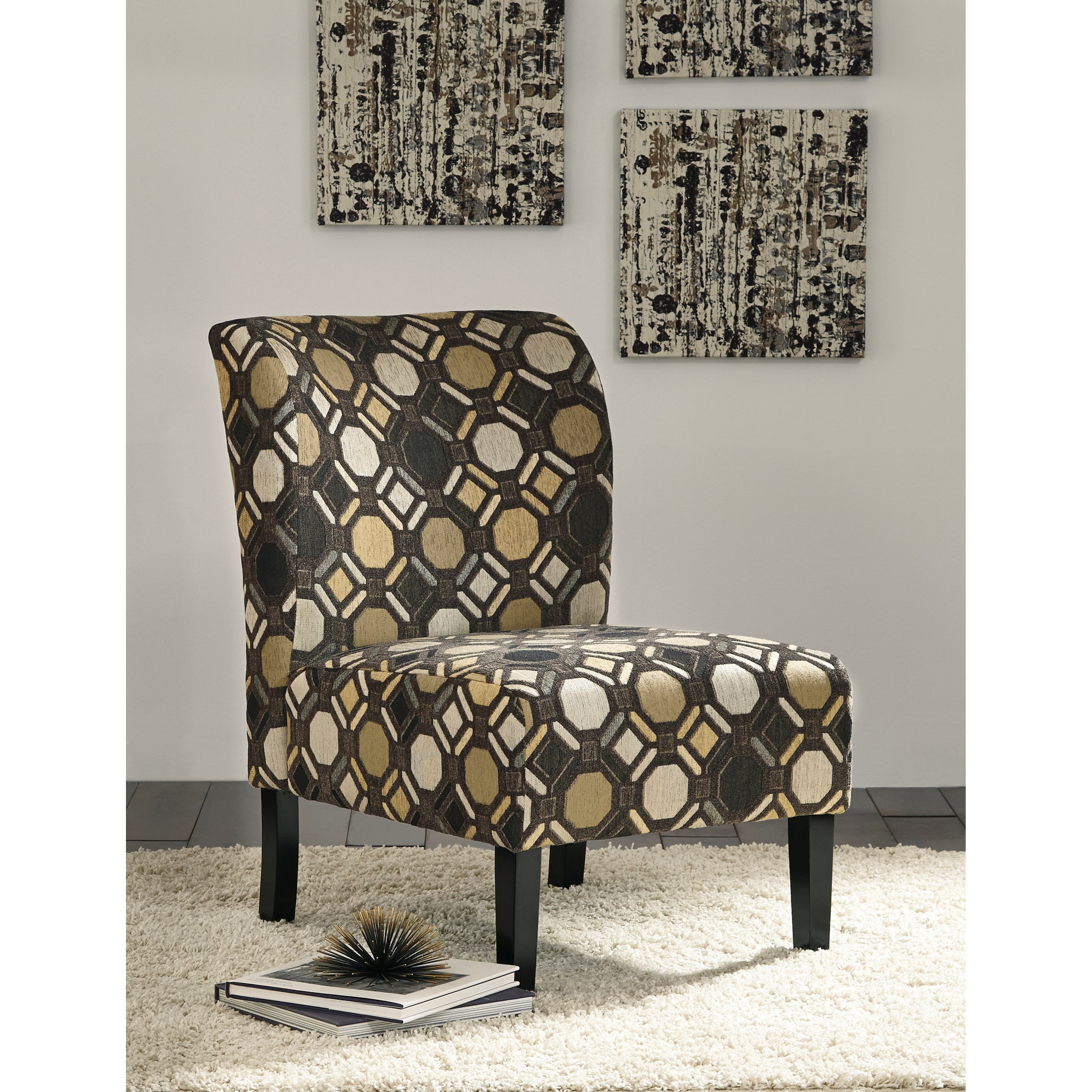 Contemporary Slipper Style Accent Chair by Signature Design by
