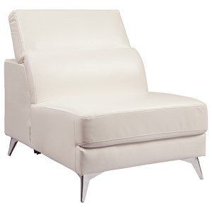 Contemporary Armless Chair with Adjustable Back