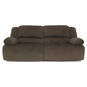 Signature Design by Ashley Toletta - Chocolate 2 Seat Reclining Power Sofa