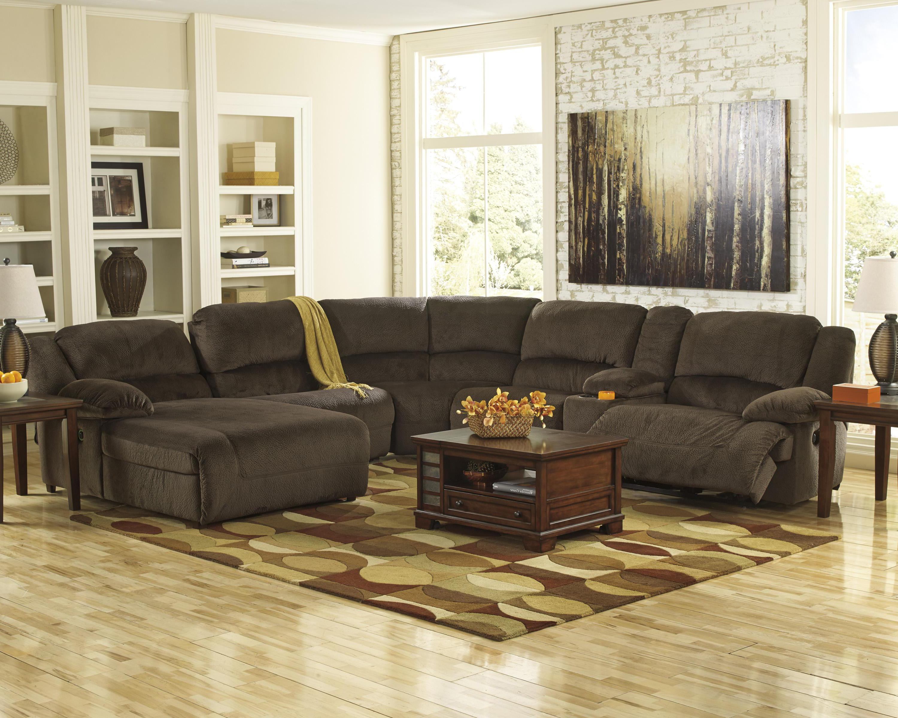 Power reclining sectional with console left press back for 2 arm pressback chaise