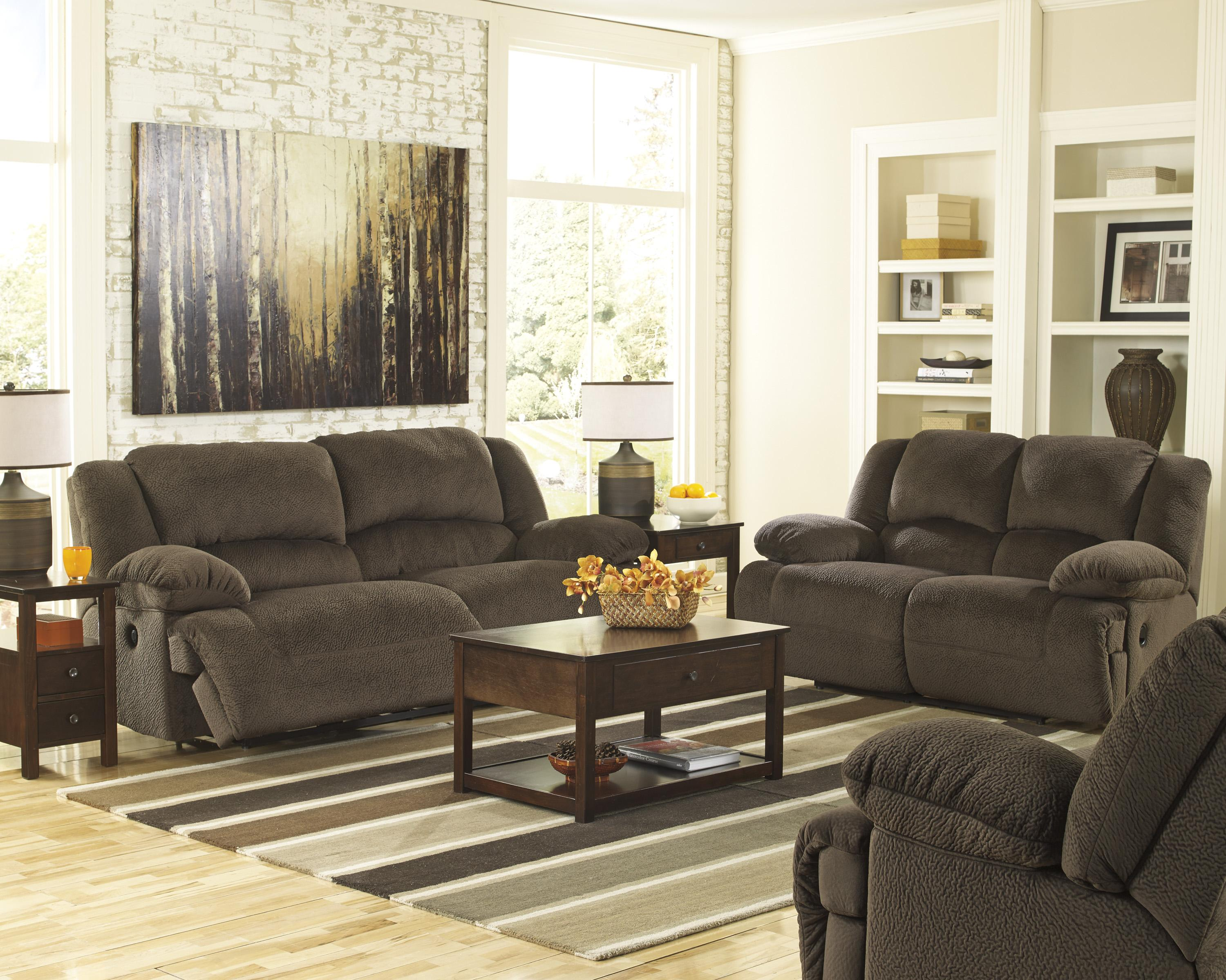 Casual Contemporary 2 Seat Reclining Sofa By Signature Design By