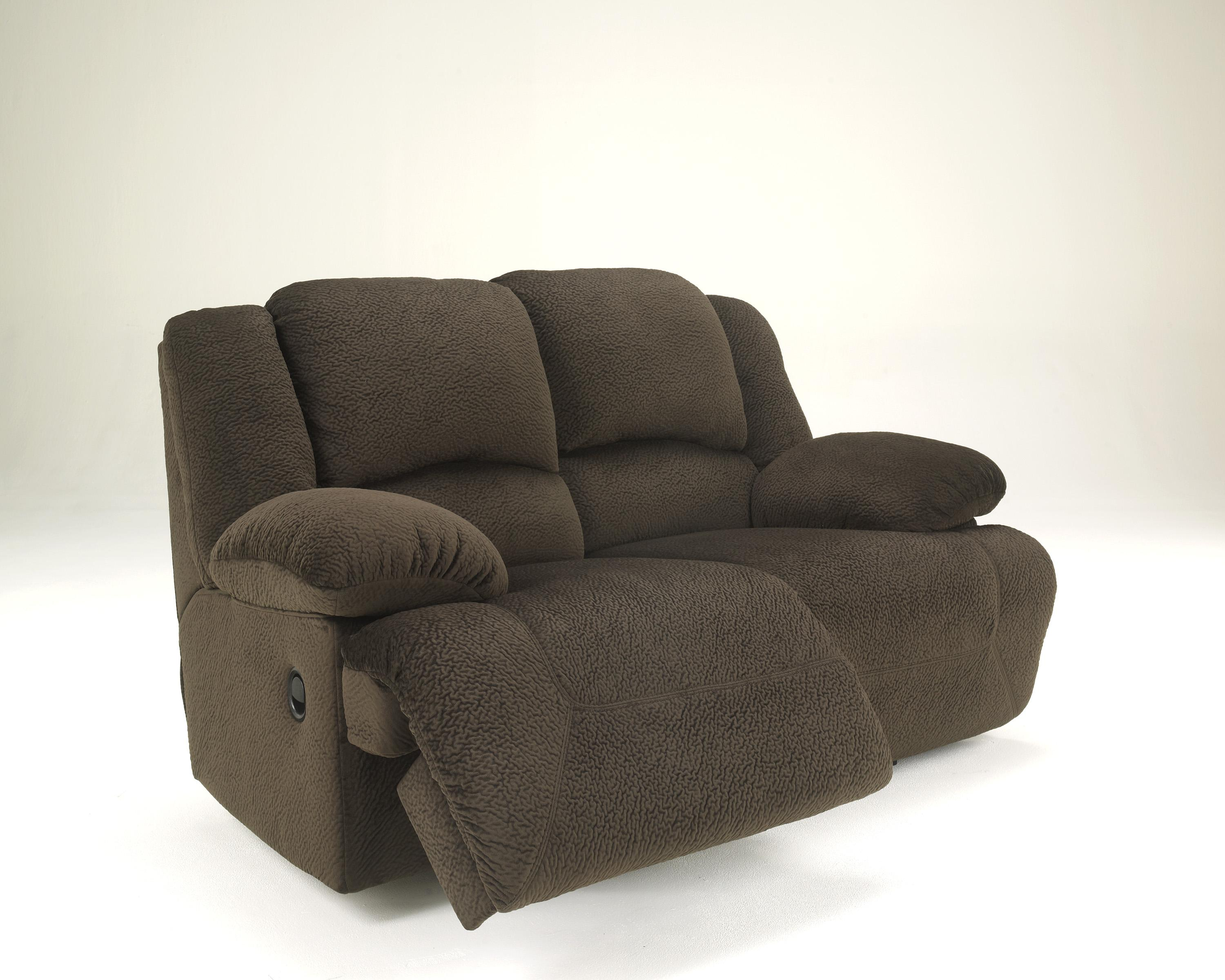 Casual Contemporary Reclining Loveseat By Signature Design By Ashley Wolf And Gardiner Wolf