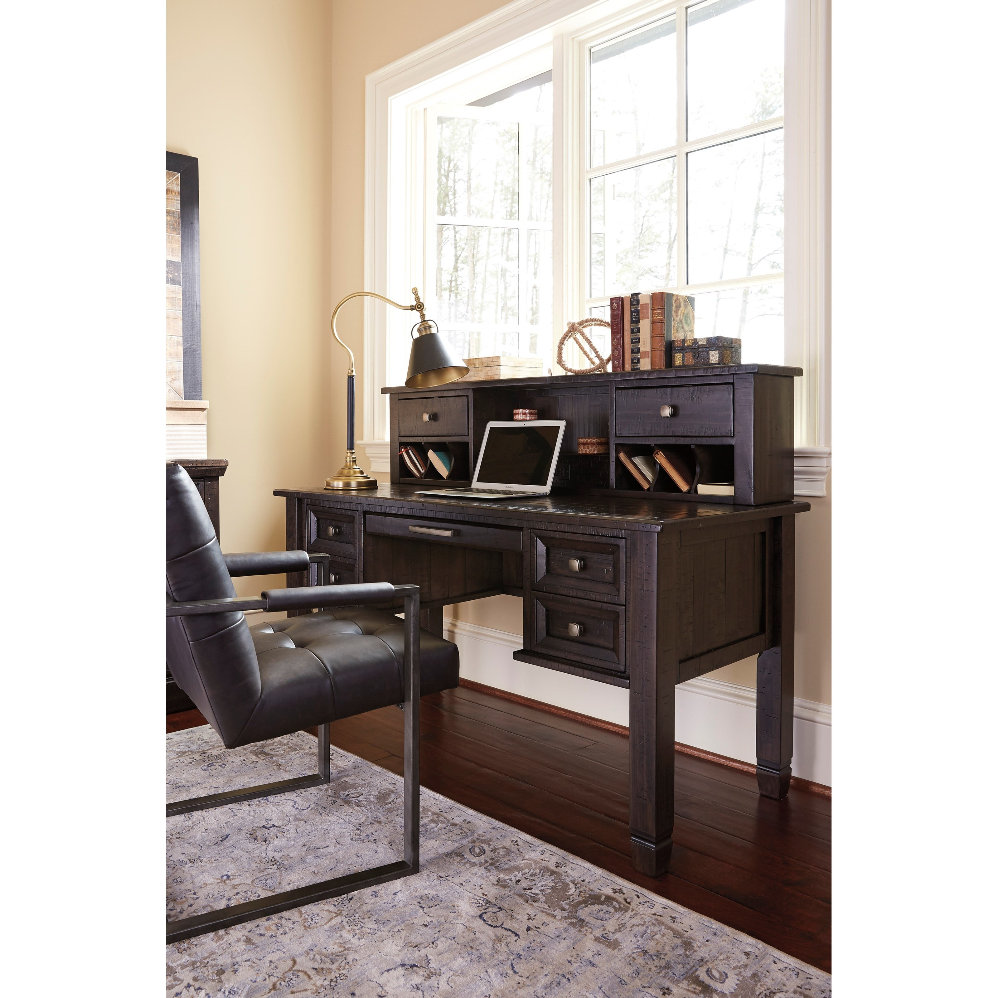 Ashley Furniture Office Desk: Solid Pine Home Office Desk & Hutch With Power Strip By