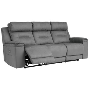 Contemporary Power Reclining Sofa with Adjustable Headrests