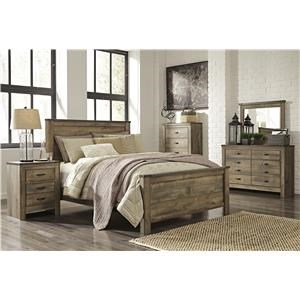4 pc Queen Bedroom Group includes Qn Bed, Dresser, Mirror and Night Stand