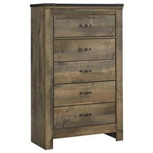 Signature Design by Ashley Trinell Five Drawer Chest