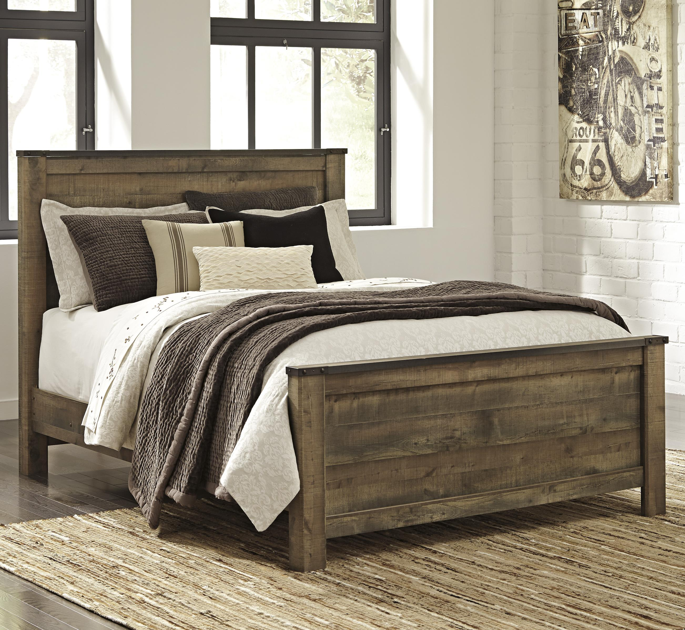 Rustic Look Queen Panel Bed By Signature Design By Ashley
