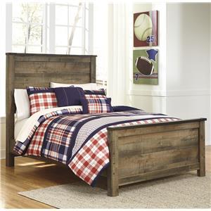 Rustic Look Full Panel Bed