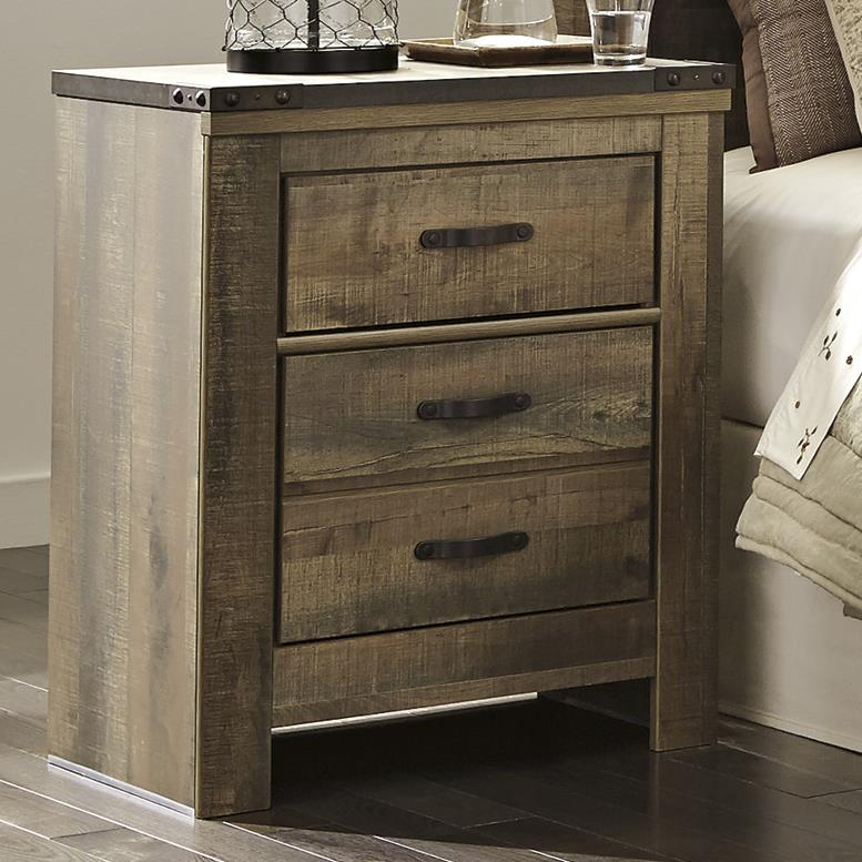 Rustic 2-Drawer Nightstand By Signature Design By Ashley