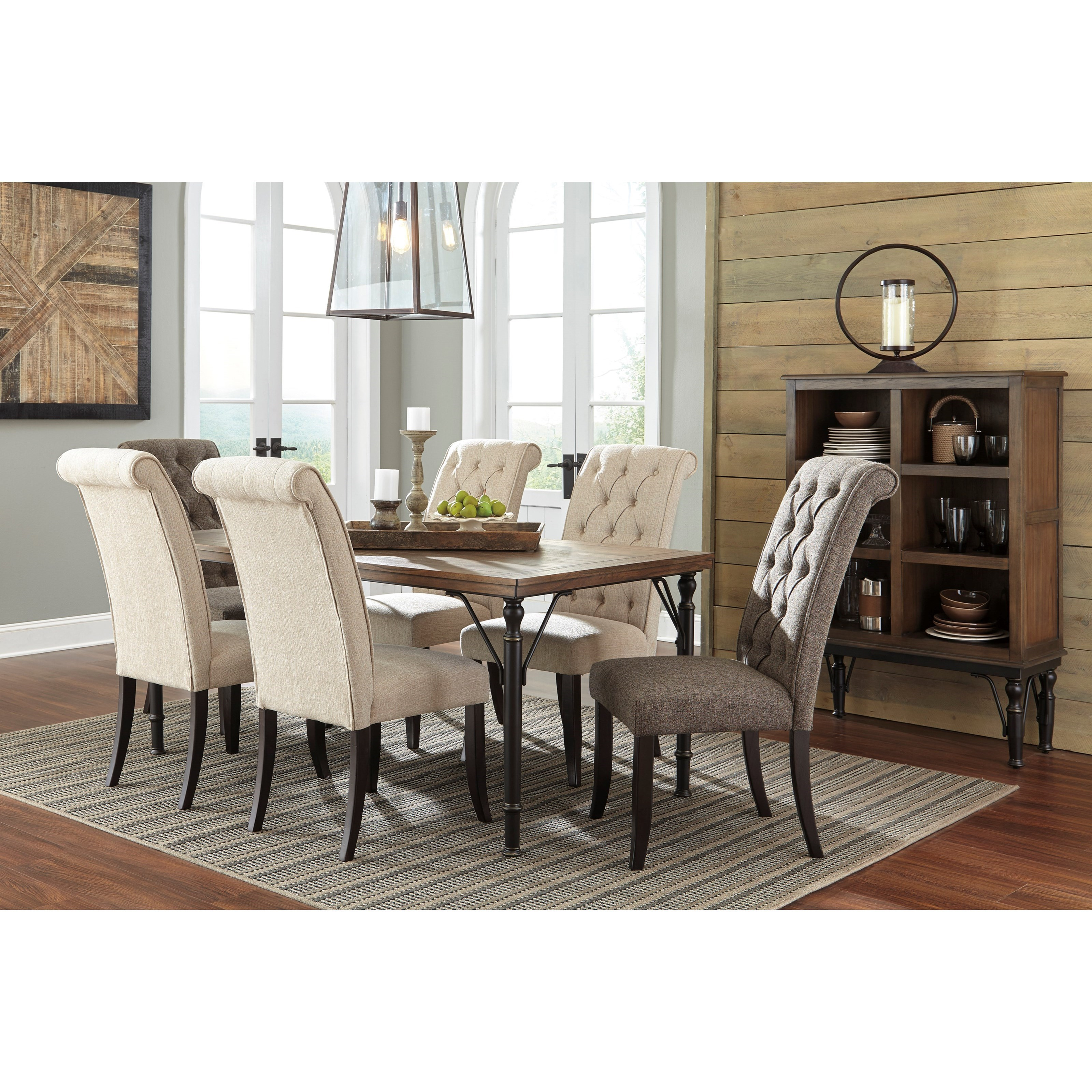 Side Chairs For Dining Room: Dining Upholstered Side Chair With Button Tufting And Roll