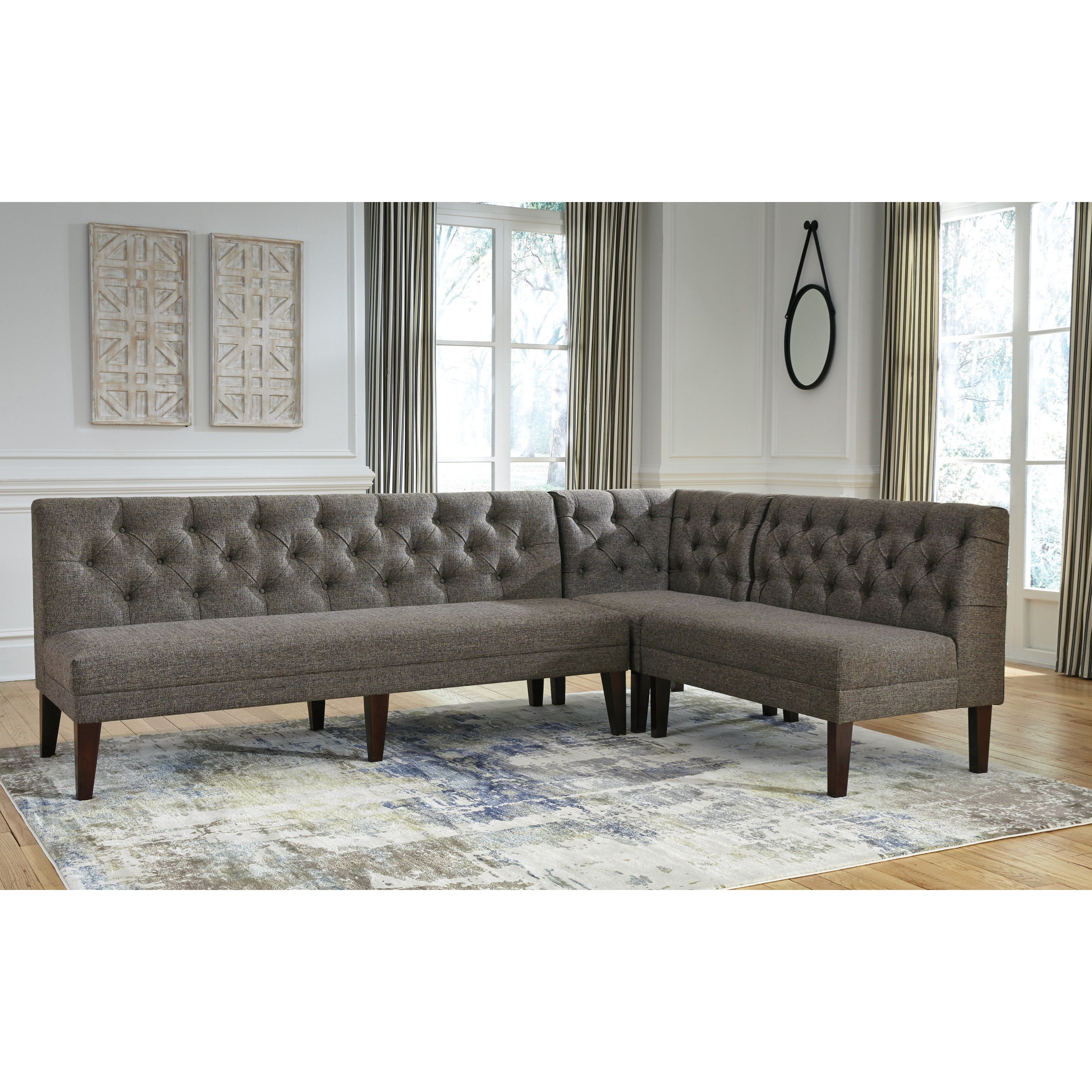 Best Banquette Online: 3-Piece Upholstered Banquette Set By Signature Design By