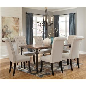 Signature Design by Ashley Tripton 7-Piece Rectangular Dining Room Table Set
