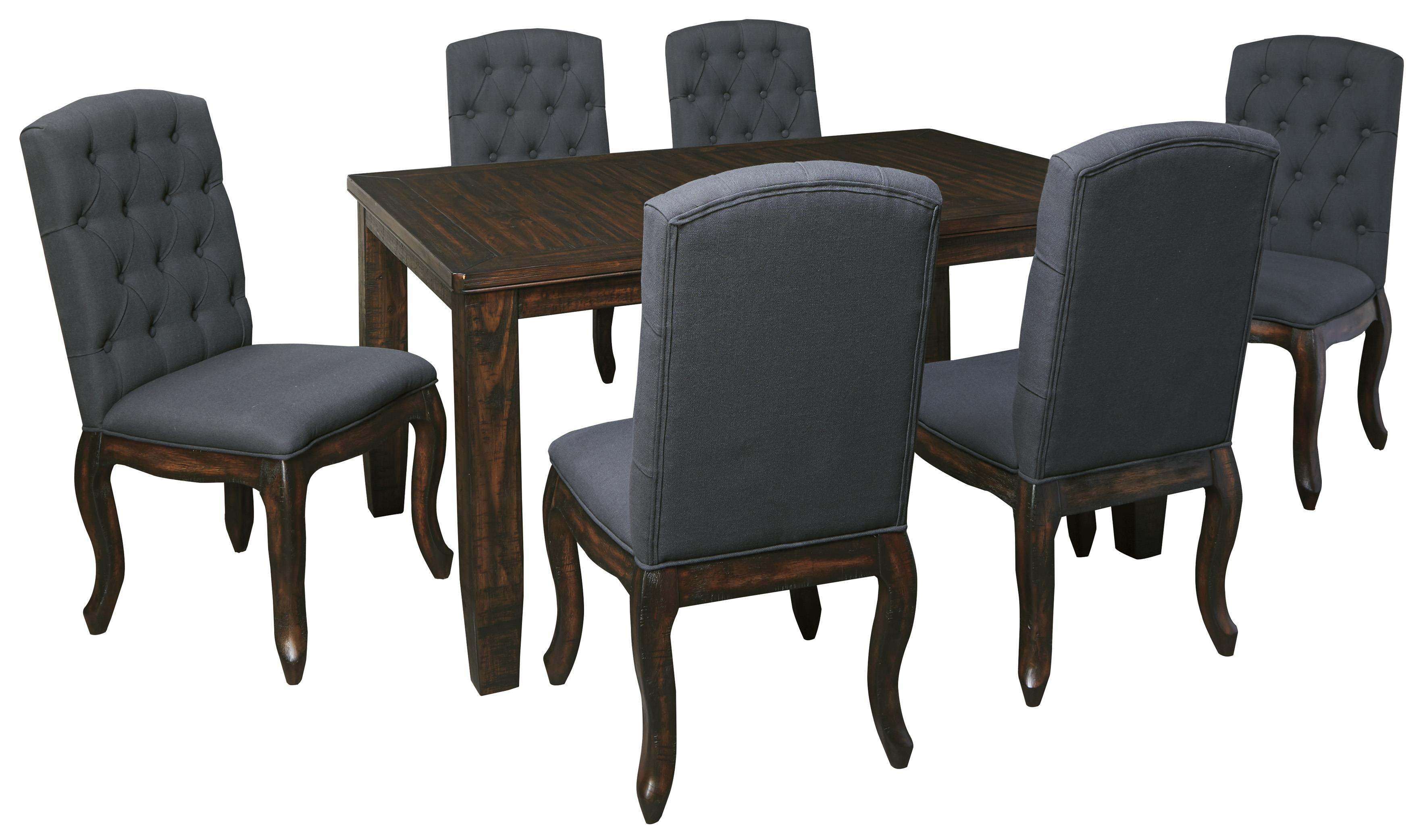 7 piece rectangular dining table set with upholstered side for 7 piece dining set with bench