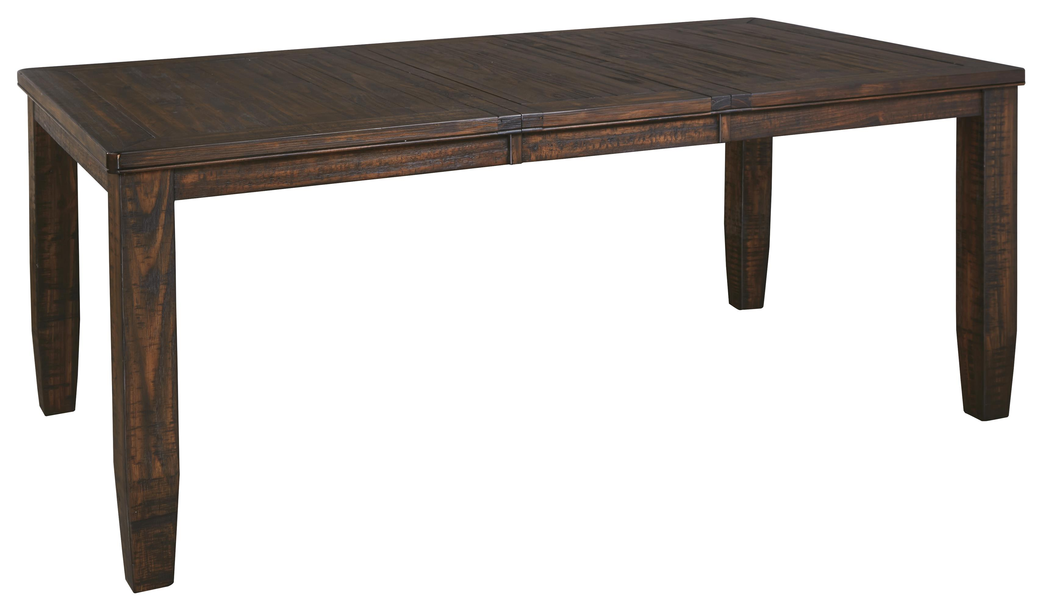 Solid Wood Pine Rectangular Dining Room Extension Table