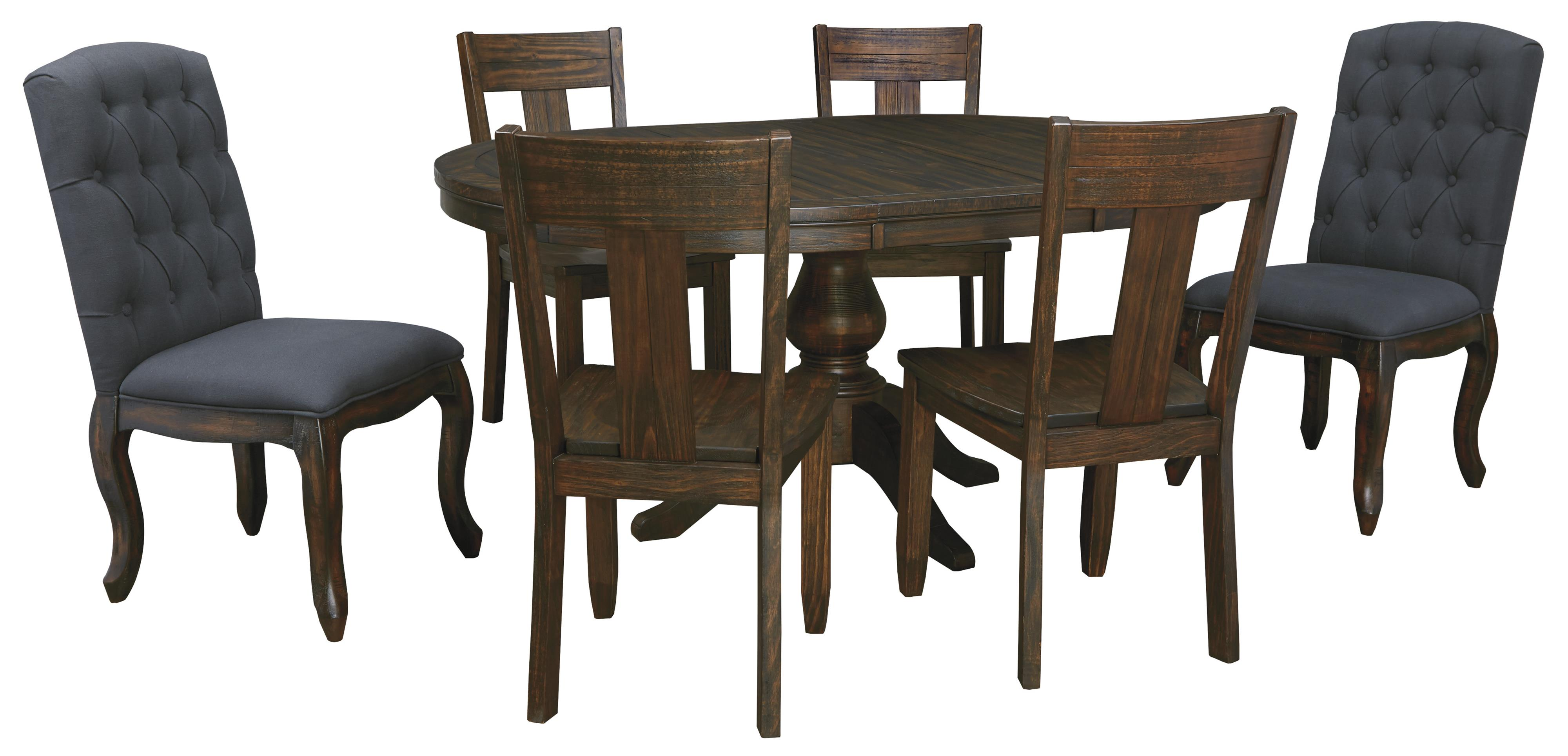 7 Piece Oval Dining Table Set With Upholstered Chairs U0026 Wood Seat Chairs