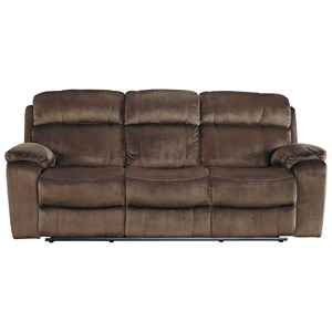 Contemporary Power Reclining Sofa w/ Adjustable Headrest