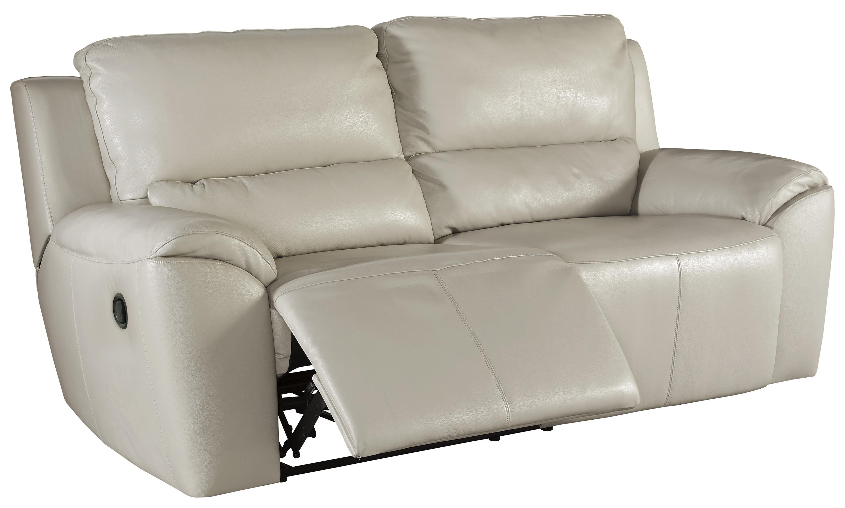 Contemporary Leather Match 2 Seat Reclining Sofa
