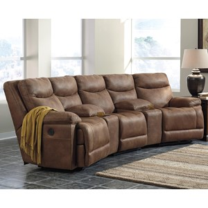Power Reclining Sectional w/ Angled Consoles